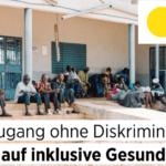 Deckblatt der Publikation: Gleicher Zugang ohne Diskriminierung - Das Recht auf inklusive Gesundheit