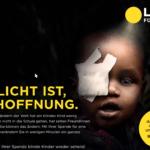 Werbekampagne: Wo Licht ist, ist Hoffnung.