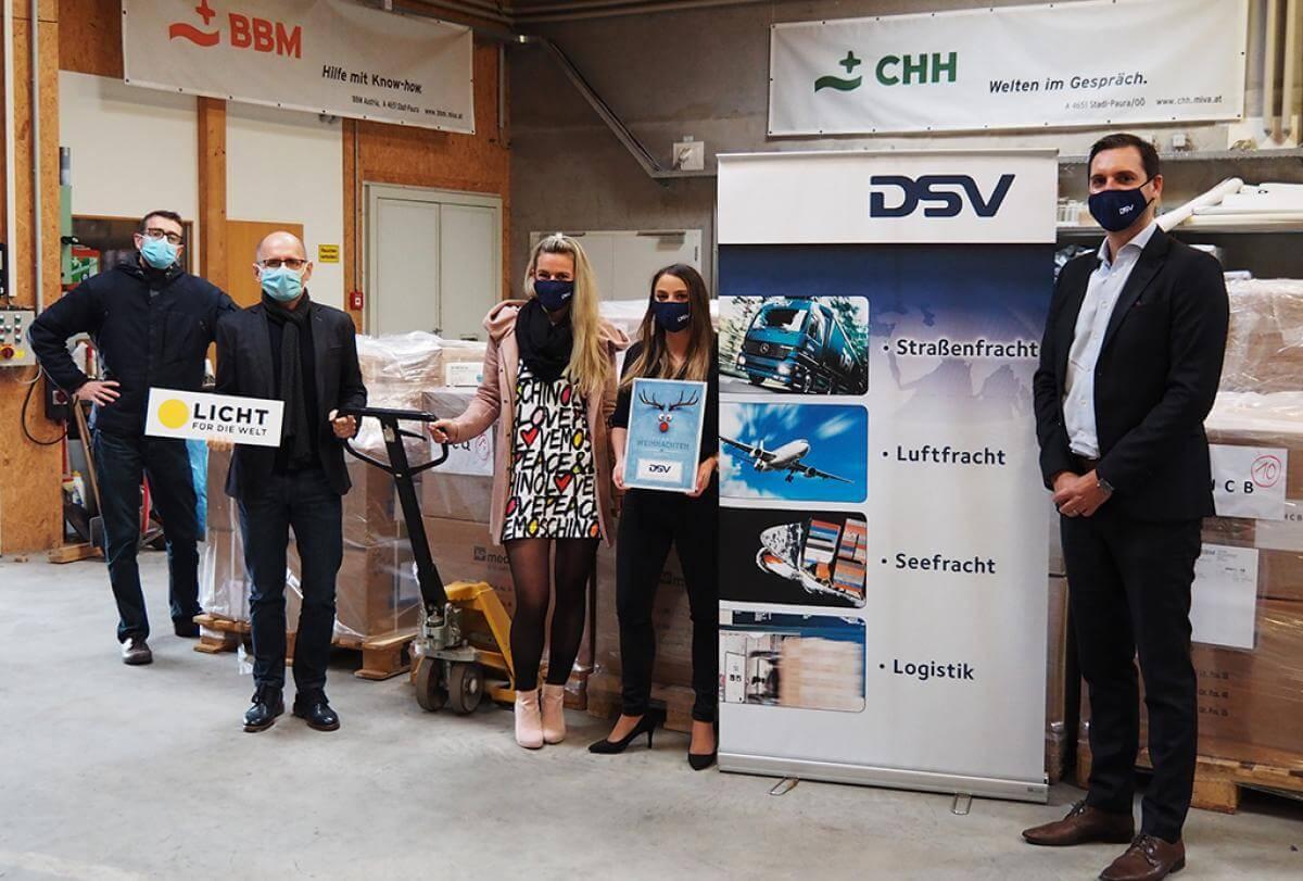 Das Logistikunternehmen DSV ermöglicht mit Qatar Airways den Transport dringend benötigter Ausrüstung von Österreich nach Mosambik kostenfrei, um dort die medizinische Versorgung auch während der Pandemie sicherzustellen.